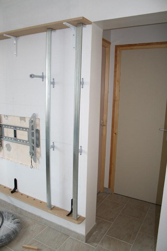 construction tv salon. Black Bedroom Furniture Sets. Home Design Ideas